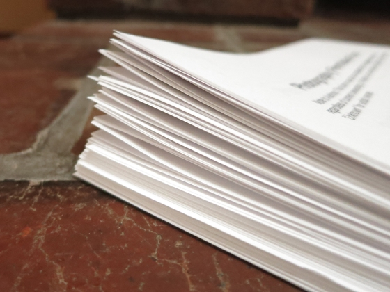The stack of permissions forms that I sent to my publisher last week.